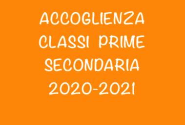 Classi Prime Secondaria: accoglienza venerdì 11 settembre