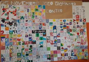 Installazione collettiva contro la violenza sulle donne 25 novembre 2020